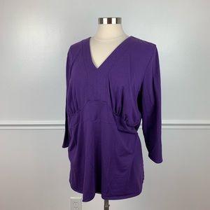 Lane Bryant | purple 3/4 sleeve blouse